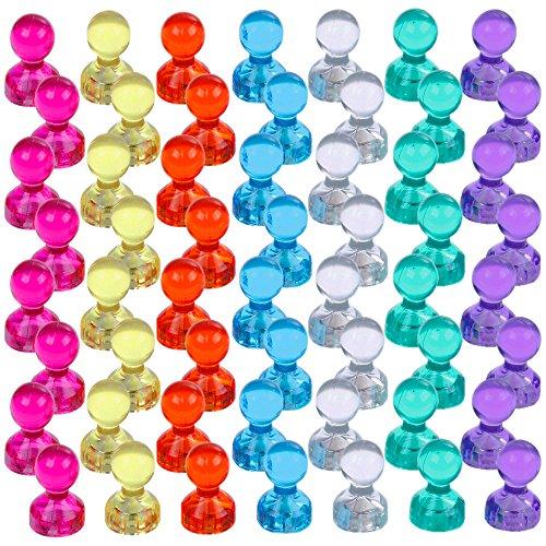 lictin 56 st cke farbige bunte transparente magnete whiteboard magnete tafelmagnete f r. Black Bedroom Furniture Sets. Home Design Ideas