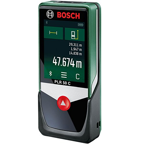 bosch laser entfernungsmesser plr 50 c app funktion 3x aaa batterien schutztasche messbereich. Black Bedroom Furniture Sets. Home Design Ideas
