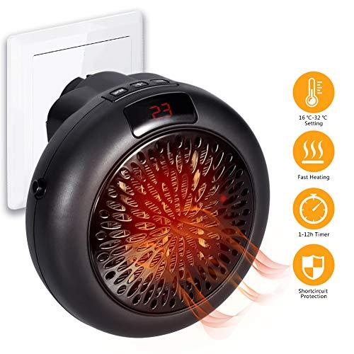 mini heizl fter heizung f r steckdosen mit thermostat und. Black Bedroom Furniture Sets. Home Design Ideas